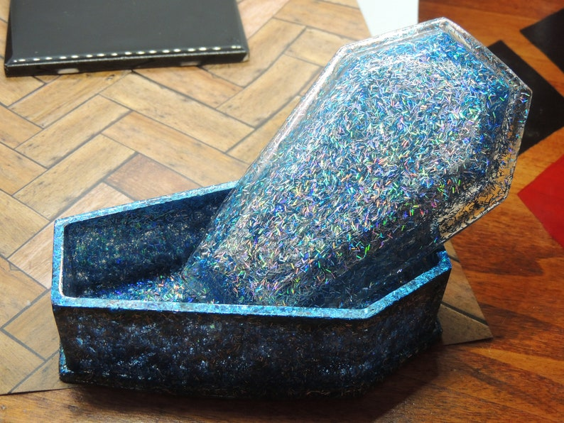 Holographic Coffin Jewelry Box