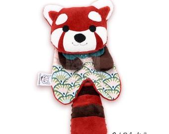 Patron de couture PDF Doudou Panda roux, Patron Jouet souple bébé, DIY doudou animal, PDF Cadeau Naissance, Tutoriel couture Baby shower