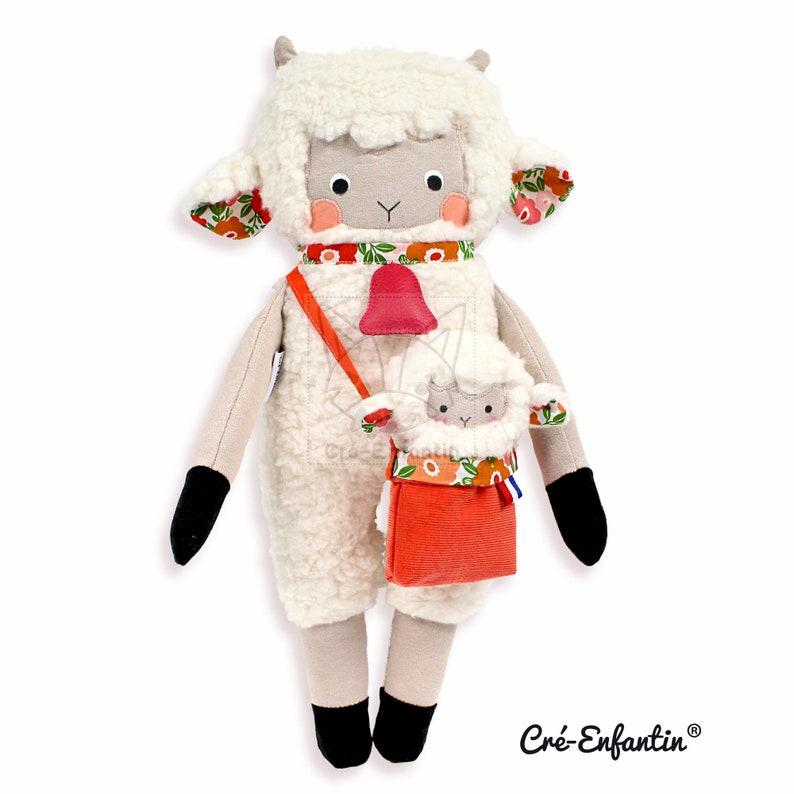 Patron de couture PDF Mouton Animal en peluche Jouet souple image 0
