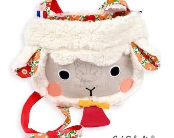 Patron de couture PDF Mouton, Sac enfant PDF, Pochette animal mignon PDF, Couture facile anniversaire, Patron sac mouton