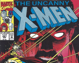 X-Men #287 (April 1992) - w/ the Gold Team: Colossus, Iceman, Storm, Jean Grey, Archangel, Bishop - Marvel Comics