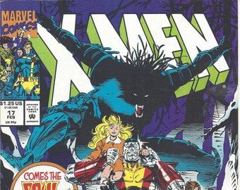 X-Men #17 (Feb 92) - with Wolverine, Beast, Jean Grey - plus the X-Force, the Gold Team, Soul Skinner - Marvel Comics
