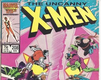 The Uncanny X-Men #208 (Aug 1986) - Wolverine, the Morlocks, the Hellfire Club, Phoenix, Storm, Nightcrawler, Shadowcat, Rogue