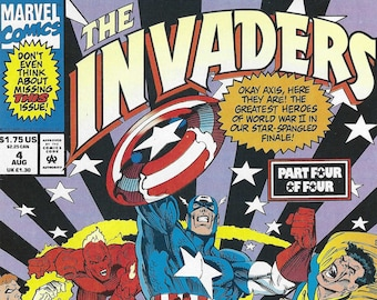 The Invaders #4 of 4 (8-93) - Captain America, Human Torch, Blazing Skull, more! - Marvel COmics