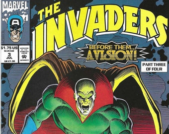 The Invaders #3 of 4 (7-93) - Captain America, Human Torch, Sub-Mariner, & more! - Marvel Comics
