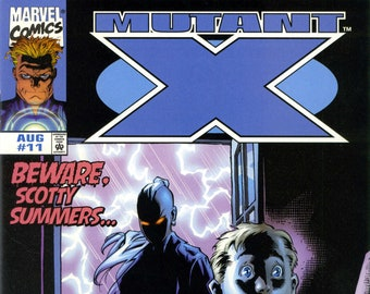 Mutant X #11 (8-1999) - Havoc, X-Men, Elektra, Polaris, Rogue, Scotty Summers, Nightcrawler, Magneto - Marvel Comics
