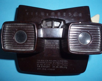 View-Master viewer - Sawyer Model E - brown (1956-1960) - a classic Viewmaster