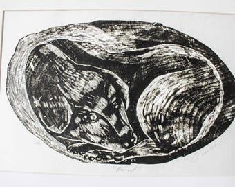 Original Woodcut Print from Oaxaca Mexico.
