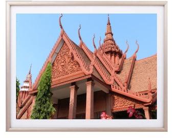 Cambodian Architecture Print, Cambodia Photography, travel photo, Architecture photography, Home decor Photography