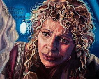 Star Trek Picard Raffi Musiker Art Print - Women Make Trek - Michelle Hurd Oil Painting - La Sirena Crew