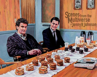 Twin Peaks Art Print - Special Agent Dale Cooper Harry S Truman Donuts - A Policeman's Dream - Oil Painting Art Print - Kyle McLachlan