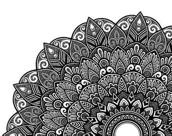 A6 Mandala greetings card M003
