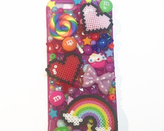 Rainbow Kawaii Decoden Phone Case