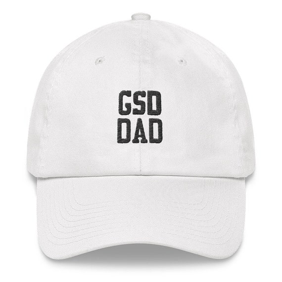 8198aa7ed1e GSD Dad Hat German Shepherd Dog Apparel Black Stitching