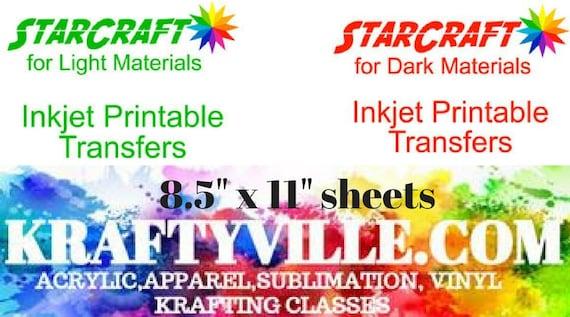 Printable Htv Vinyl For Dark Or Light Fabricstarcraft Etsy