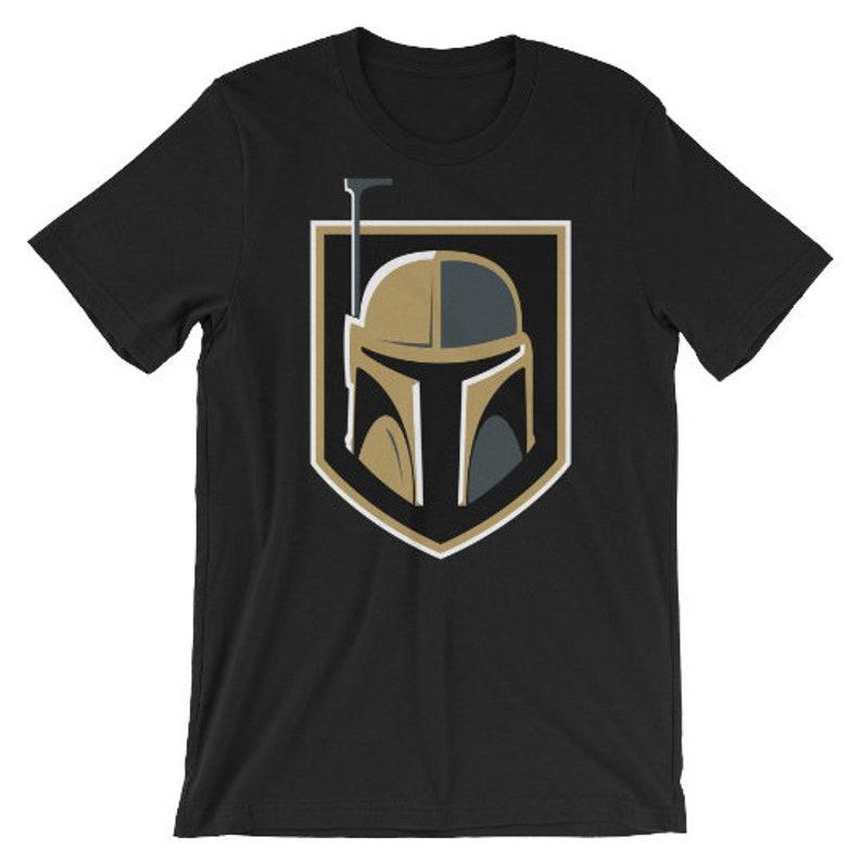 5b100811d74 Las Vegas Golden Knights Hockey   Boba Fett Mens Shirt