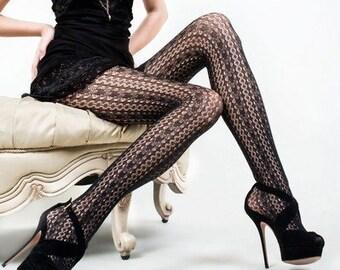 e6507555037ea KILLER LEGS Lady's Heart Throb Fishnet Tights, Yelete Killer Legs Women's  Sexy Black Fishnet Pantyhose,