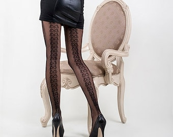 b2f0de0af55ab KILLER LEGS Lady's Backseam Ribbons Fishnet Tights, Leggings, Pantyhose For  Women