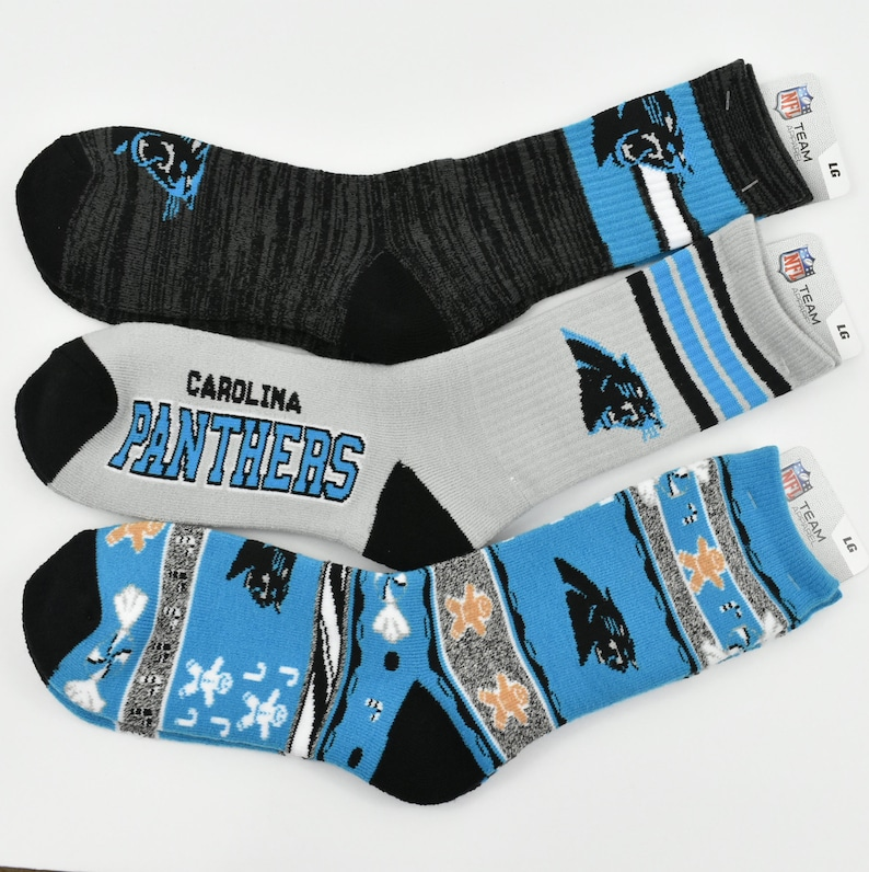 33399d1a Carolina Panthers CHRISTMAS Socks, Men's Carolina Panthers Socks, Men's  Carolina Panthers Logo Crew Socks, NFL Team Socks, Men's Socks