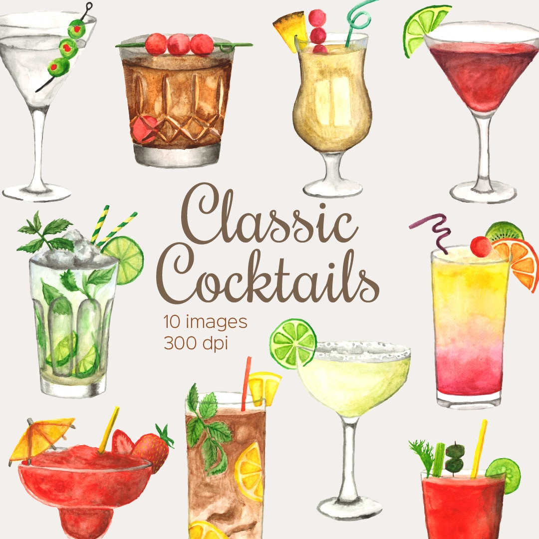 Typographic Wall Art Print /'The Cocktail Club/' 0477