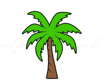 Palm Tree Cut Files SVG & Studio 3 File for Silhouette Brother Cricut Cutouts Decals Stencil SVGs Tropical Decal Logos Logo