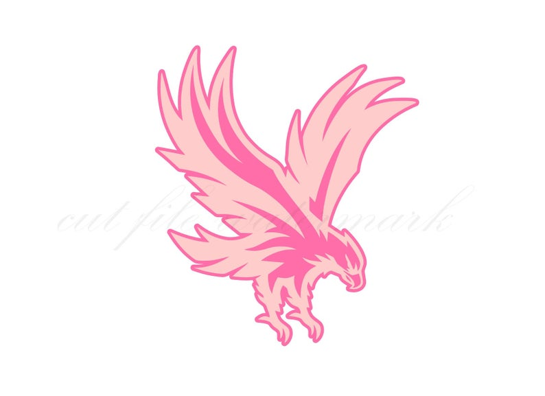 Pink Eagle Cut Files SVG /& Studio 3 File for Silhouette Brother Cricut Cutout Decals SVGs Biker Chic Girl Motorcycle Babe Decal Eagles Logo