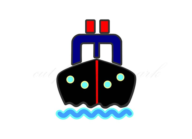 Boat Cut Files SVG /& Studio 3 File for Silhouette Cricut Cutouts Decals SVGs Tugboat Ocean Cruise Ship Clipart Vacation Water Sailor Baby
