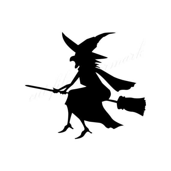 Witch Halloween Shadow Cut Files SVG Studio 3 File For