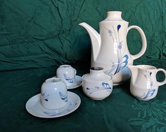 Winterling Bavaria white and blue tea set