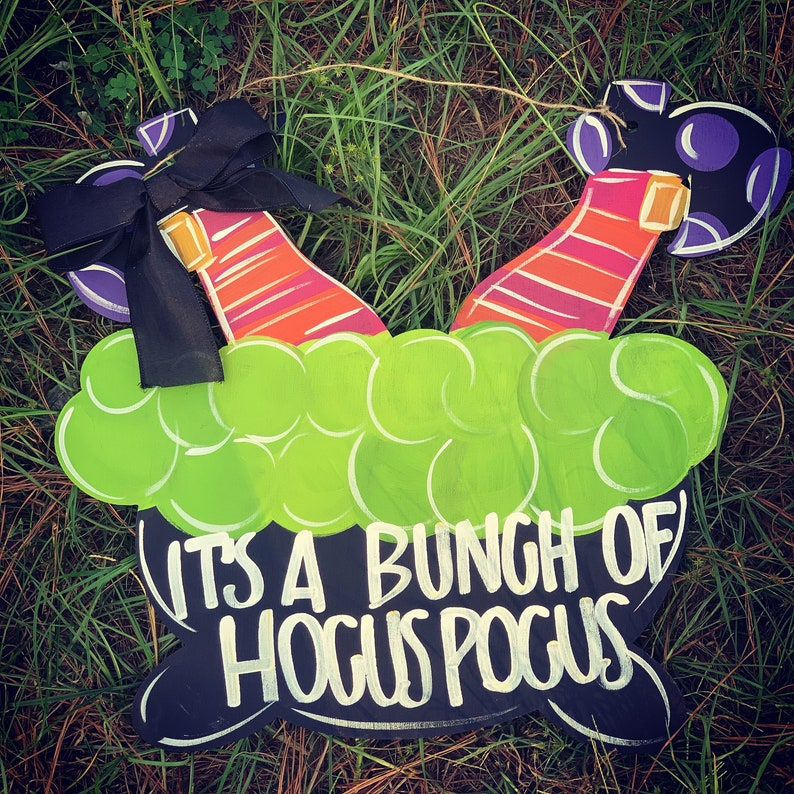 Witch legs door hanger  HOCUS POCUS  halloween door hanger  image 0