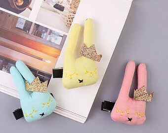 Sleeping Bunny w/Glitter Crown