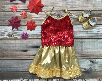 Baby Sequin Lehnga- Shoes Included!