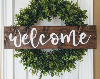 Beau Welcome Sign For Front Door | Etsy