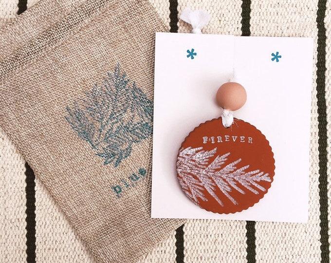 Featured listing image: Leaf Press Ornament (single)