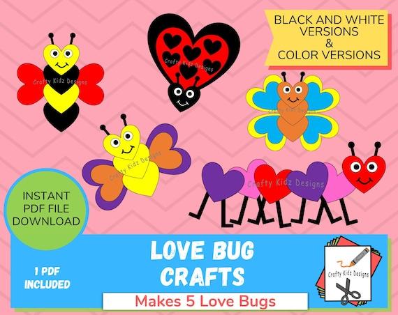 Love Bug Crafts for Kids Fun Valentine's Day Craft