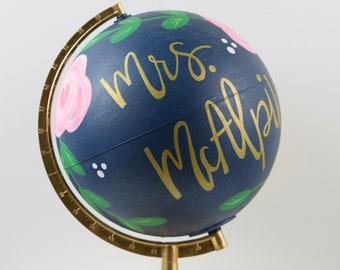 Teacher Globe || Painted Globe