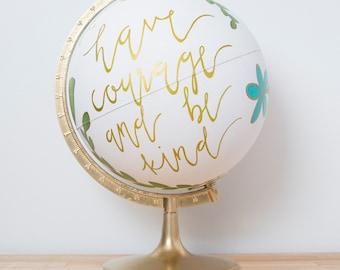 Custom Painted Globe