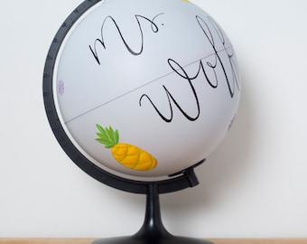 Painted Globe || Teacher Gift || Teacher Globe
