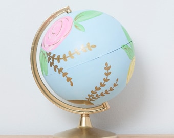 Guestbook Globe || Custom Painted Globe || Painted Globe