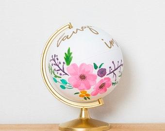 Handpainted Globe || Painted Globe