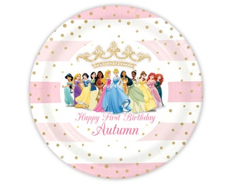 Disney Princess Personalized Meal Plates, pack of 12