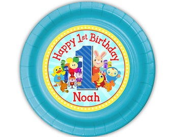 BabyFirst TV Birthday Party, Personalized Cake Plates, pack of 12