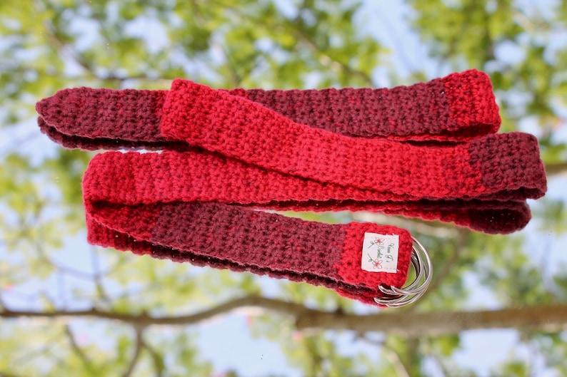 Crochet Red Belt crochet women/'s accessory crochet retro belt