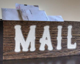 Farmhouse Wood Mail Box