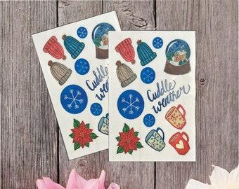 2 Pack - Winter Sticker Sheet