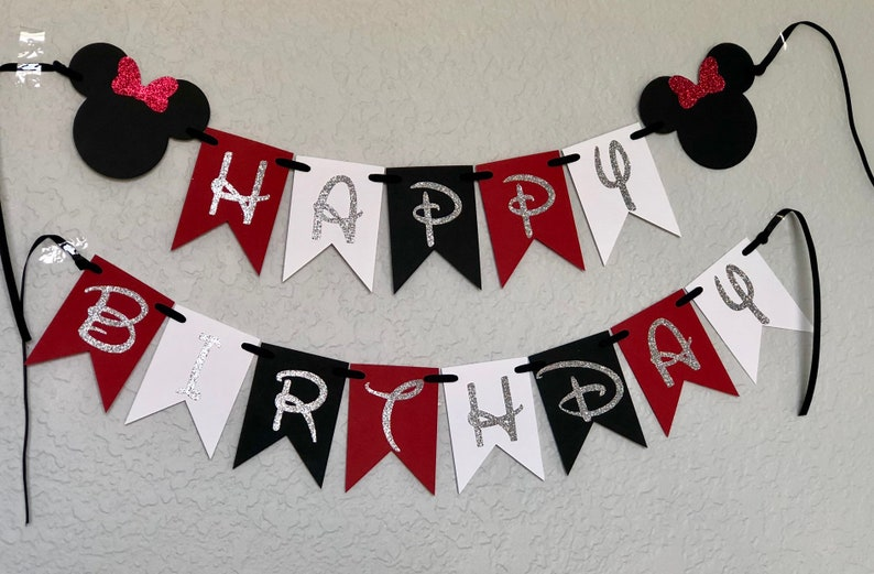 NEWBEER First Birthday Bunting Banner Baby Boy Party Decoration Blue