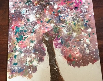 colorful tree painting