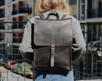 8ab8889fd7 Leather backpack