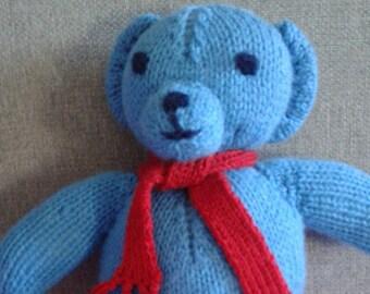 Woolen Teddy Bear. Original toy. Handmade. Gift for children.