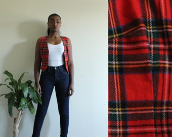 90's Retro plaid vest